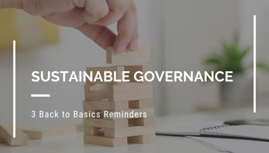 Sustainable Governance Back to Basics