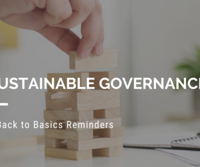Sustainable Governance Back to Basics