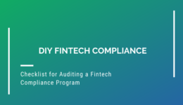 Checklist for Auditing a Fintech Compliance Program