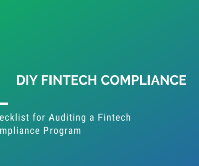 Checklist for Auditing a Fintech Compliance Program